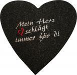 Filz-Untersetzer mit Einstickung - Mein Herz schlägt immer für di - 30228 - Gr. ca. 38 x 38 cm