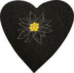 Filz-Untersetzer mit Einstickung - Edelweißblüte - 30233 - Gr. ca. 38 x 38 cm