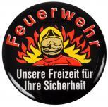 """3D-EPOXY-Aufkleber """"FEUERWEHR - Unsere Freizeit für Ihre Sicherheit"""" NEU Gr. ca. 4,8cm (302926) Stick Aufkleber Emblem"""