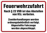 Hinweisschild - Feuerwehrzufahrt ... - 307757 - Gr. ca. 50 x 35cm
