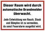 Hinweisschild - Überwachung Rauchmelder - 308513 - Gr. ca. 30 x 20 cm