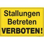 Schild - Stallungen betreten verboten ! - 309841 - Gr. 30cm x 20cm