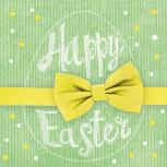 Servietten 20er Set - TISSUE mit Motiv -Happy Easter Schleife- 33724 Gr. ca. 33x33cm