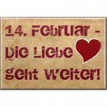 (37703) MAGNETBUTTON  • Valentinstag • NEU Gr. ca. 8 x 5,5 cm   Küchenmagnet
