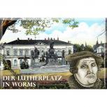 Kühlschrankmagnet - Lutherplatz in Worms - Gr. ca. 8cm x 5,5cm - 38290
