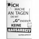 Küchenmagnet - ...keine Hausarbeit - Gr. ca. 8 x 5,5 cm - 38821 - Magnet Kühlschrankmagnet