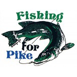 Auto-Aufkleber - Fishing for Pike - Gr. ca. 9 x 7,5cm (307128) Angelsport fischen