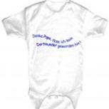 Babystrampler mit Print – Danke Papa, dass ich kein Dortmunder geworden bin – 08495 weiß - 6-18 Monate