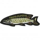 Aufnäher - Fisch Hecht Hunting - 04548 - Gr. ca. 13cm x 4cm
