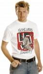 T-Shirt unisex mit Aufdruck - HAKEN..... - SCHLUSS DAMIT - 09535 weiß - Gr. S - XXL