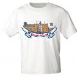 T-Shirt unisex mit Aufdruck - DÜSSELDORF - 09412 weiß - Gr. S-XXL