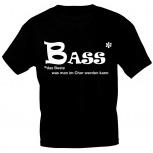 T-Shirt mit Print - BASS - das Beste was man im Chor werden kann - 09321 - Gr. S-XXL