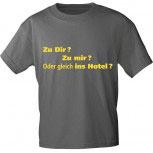 T-Shirt unisex mit Aufdruck - ZU MIR ? ZU DIR ? ODER GLEICH INS HOTEL? - 10616 - Gr. S - XXL