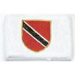 Frottee-Schweißband - Trinidad und Tobago - 56561 - Pulswärmer weiß