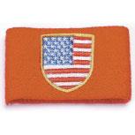 Pulswärmer - USA - 56576 - Schweißband rot
