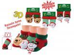 Erstlingssöckchen Baby Rassel-Söckchen - Elch Schneemann Weihnachtsmann zur Wahl - 56904