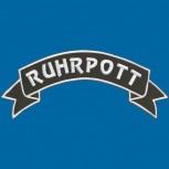 Rückenaufnäher -  große Applikation - RUHRPOTT - 08542 - Gr. ca. 38,5 x 11,5 cm