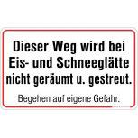 Warnschild - Eis-u. Schneeglätte - 308758 - 50cm x 30cm