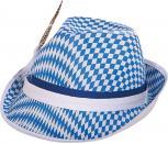 Rautenhut Trilby-Hut Bayrisches Rautendesign - 61201blau-weiß