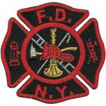 AUFNÄHER - Feuerwehr - 04732 - Gr. ca. 7,5cm x 7cm - Patches Stick Applikation Emblem
