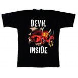 T-Shirt unisex mit Aufdruck - DEVIL INSIDE - 09515 - Gr. S - XXL