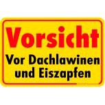 Warnschild - Winter Dachlawinen Eiszapfen - 308645 - Gr. 30x20cm