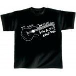T-Shirt unisex mit Aufdruck - Ich spiele Gitarre - für Schule keine Zeit - 10660 - Gr. S-XXL