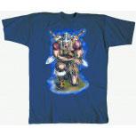T-Shirt unisex mit Aufdruck - WIKINGER-MOTIV - ANDACHT - 92008 – Kollektion Milosch - Gr. S - XXL