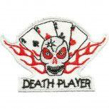 Aufnäher - Kartenspiel Death Player - 04481 - Gr. ca. 8,5cm x 6cm