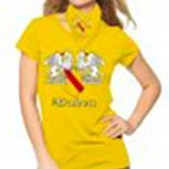 T-Shirt unisex mit Aufdruck - BADEN - 09414 gelb - Gr. S-XXL
