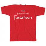 T-Shirt unisex mit Aufdruck - Produced in Franken - 09893 - Gr. S - XXL
