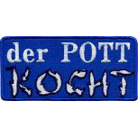 Aufnäher Patches Applikation Wappen -  der Pott KOCHT - 00550 - ca. 10 x 4,5 cm