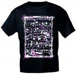 T-Shirt unisex mit Print - Sheets - 10732 schwarz - von ROCK YOU MUSIC SHIRTS - Gr. S-XXL