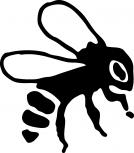 Aufkleber Applikation - Biene - AP1067 - versch. Größen