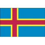 Autoländerfahne - Aland Island - Gr. ca. 40x30cm - 78007 - Länderfahne mit Klemmstab, Flagge, Dekofahne