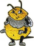 AUFNÄHER - Biene Hummel - 00764 - Gr. ca. 5 cm x 6cm - Patches Stick Applikation Bügel-Emblem