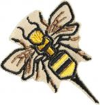AUFNÄHER - Biene Wespe Bee - 00769 - Gr. ca. 6 cm x 5 cm - Patches Stick Applikation Bügel-Emblem