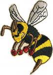 Aufnäher Applikation - Biene Hummel - Gr. ca. 5cm x 6cm (00766)