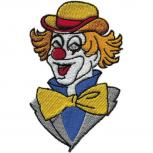 AUFNÄHER - Clown - 03245 - Gr. ca. 6cm x 10cm - Patches Stick Applikation Bügel-Emblem