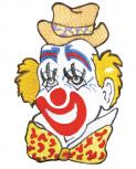 Rückenaufnäher - CLOWN - 08085 - Gr. ca. 15cm x 23cm - Patches Stick Applikation Bügel-Emblem