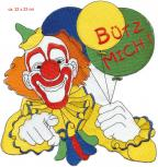 Rückenaufnäher - CLOWN - 08084 - Gr. ca. 22cm x 23cm - Patches Stick Applikation Bügel-Emblem
