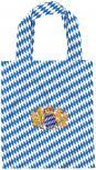 Baumwolltasche für Kinder mit Stickmotiv - BAYERN WAPPEN LÖWE - 12354 - Tasche Kindergartentasche