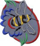 AUFNÄHER - Wespe Biene Hummel - 00925 - Gr. ca. 7 cm x 9 cm - Patches Stick Applikation Bügel-Emblem
