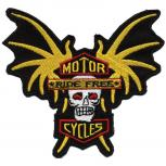 AUFNÄHER - Motor Cycles - 01679 - Gr. ca. 12 x 11 cm - Patches Stick Applikation