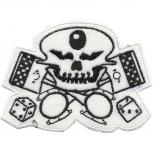 AUFNÄHER - Totenkopf - 06125 - Gr. ca. 10 x 8,5 cm - Patches Stick Applikation