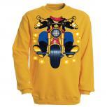 Sweatshirt mit Print - Motorrad - S12780 - versch. farben zur Wahl - Gr. S-XXL
