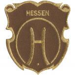 Aufnäher - Brandzeichen Hessen - 04642 - Gr. ca. 6,5 x 7 cm - Patches Stick Applikation