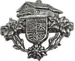 Anstecknadel - Metall - Pin - 3,3 x 2,9 - Bayern Landhaus - 02679
