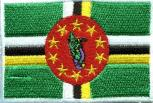 Aufnäher - Dominicia Fahne - 21586 - Gr. ca. 8 x 5 cm