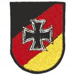 Aufnäher - Eisernes Kreuz - 03262 - Gr. ca. 5 x 6,5 cm - Patches Stick Applikation